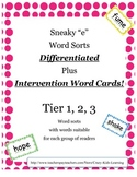 "Sneaky ""e"" Word Sort - cut and paste ***Differentiated***F"