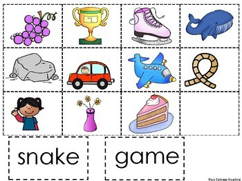 Silent e Word and Picture Match
