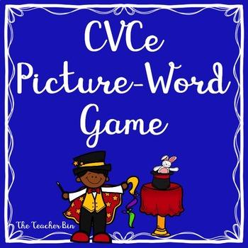 Kindergarten - 1st Grade- CVCe Picture-Word Game - Magic e