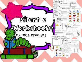 Silent e Worksheets!