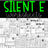 Silent e Worksheets Distance Learning