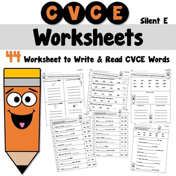Silent e Worksheets by Teacher's Take Out   Teachers Pay ...