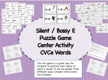 CVCe Words/ Silent e Activity