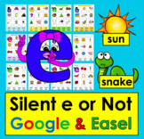 Digital Silent e for Google Slides Set Two - First Grade #TptDigital