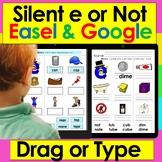 Silent e for Google Slides Digital Set One First Grade