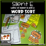 Silent e, long o and u word sort,  Halloween