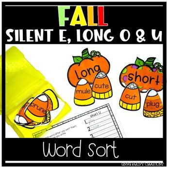 Silent e, long o and u word sort,  Halloween