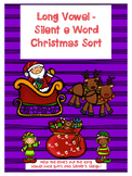 Silent e (long vowel) Christmas Sort