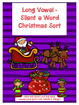 Silent e (long vowel) Christmas Sort