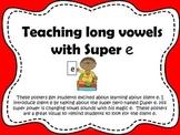 Silent e long vowel posters
