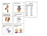 Silent -e short and long vowel sentences and pictures