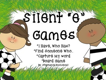 Silent e with a Soccer Theme