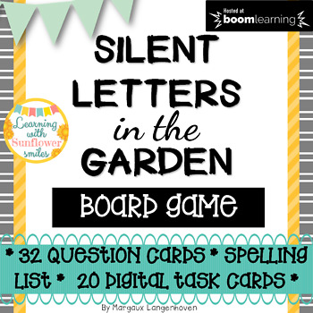 Silent letters spelling board game