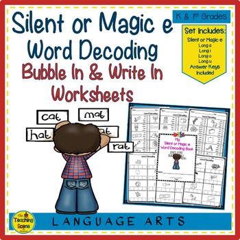 Silent or Magic E Word Decoding Practice Worksheets or Assessments