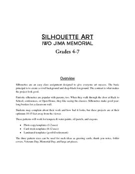 Veterans Day & Memorial Day - Iwo Jima Art (Printable Templates)