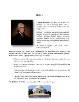 Presidents' Day Art - Jefferson Memorial (Printable Templates)