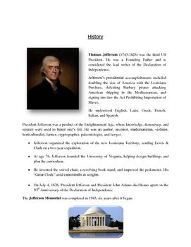 Art Lesson: Presidents' Day Art - Jefferson Memorial Printable Templates