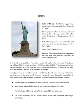 photo about Printable Statue of Liberty Template named Artwork LESSON Statue of Freedom Silhouette Printable Templates (Gr. 2-6)