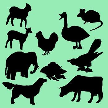 Silhouette Clip Art Assortment - Animals