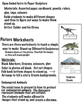 Silhouette Sculptures (5 pages)