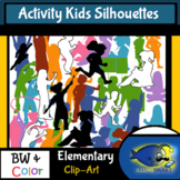 Silhouettes:  Activity Kids 150 pc. Clip-Art Set