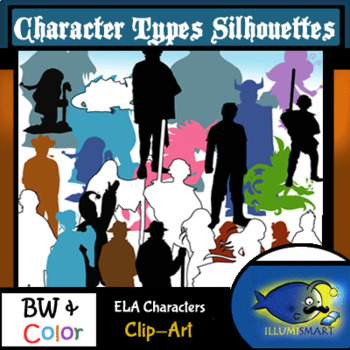 Silhouettes: ELA Character Types 170 Pc. Clip-Art Set