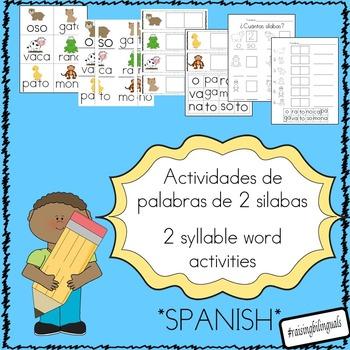 Silabas (palabras de 2 silabas) 2 syllable words (Spanish)