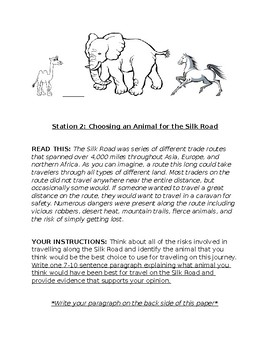 Silk Road - Choose Your Animal