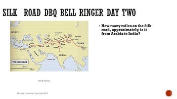 Silk Road DBQ Bell Ringers