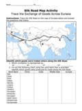 Silk Road Map Activity / Exchange of Goods Across Eurasia