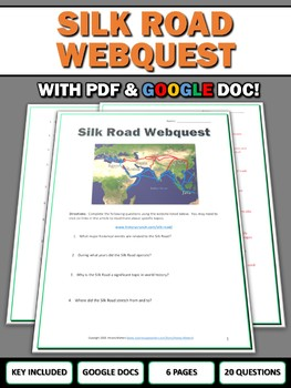 Silk Road - Webquest with Key (Google Doc Included)