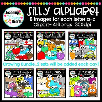 Silly Alphabet Clipart