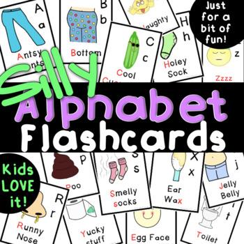Silly Alphabet Flashcards