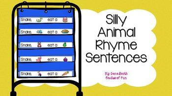 Silly Animal Rhyme Sentences