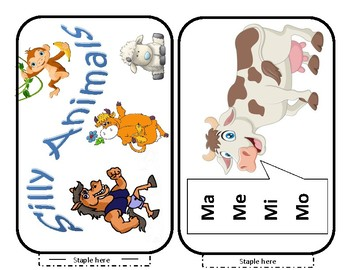 Silly Animals Book to go with the song Silly Animals and Visual Props