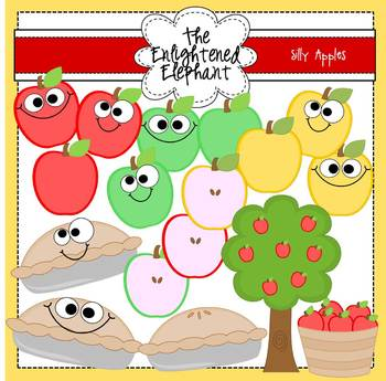 Silly Apples Clip Art