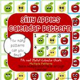 Silly Apples Math Pattern Calendar-Multiple Patterns