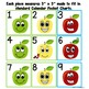 Silly Apples Math Pattern Calendar-Multiple Patterns