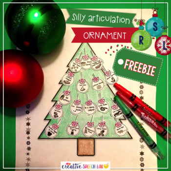 Silly Articulation Christmas Ornament Freebie