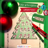 Silly Articulation Christmas Ornament Freebie