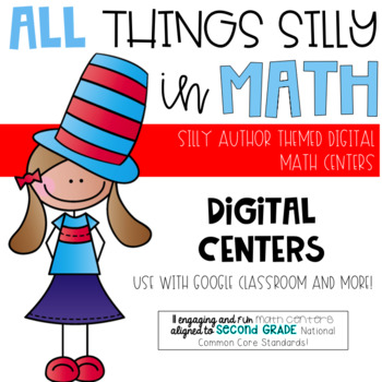 Silly Reading Themed-Second Grade DIGITAL Math Centers