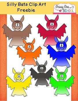 Silly Bats: Clip Art Freebie