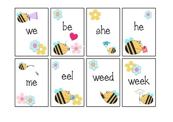 Silly Bees - Long e: e, ee and Other Literacy Activities