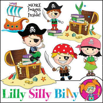Clipart Pirate Adventures {Lilly Silly Billy}