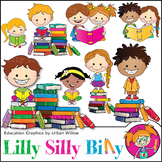 Clipart Books and Reading Kids {Lilly Silly Billy}