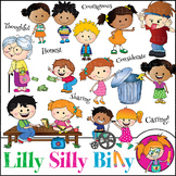 Clipart Values Caring Cuties {Lilly Silly Billy}