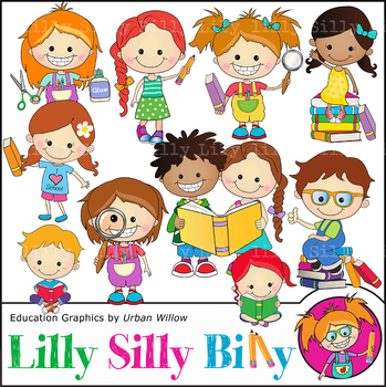 Clipart Kids Curiosity {Lilly Silly Billy}