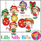 Clipart Elves and Ornaments {Lilly Silly Billy}
