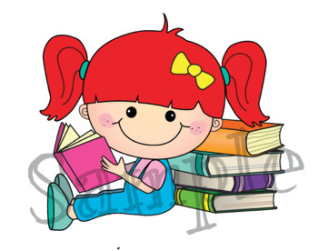 Clipart I Love Books {Lilly Silly Billy}