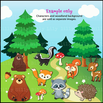 Clipart Woodland Animals {Lilly Silly Billy}